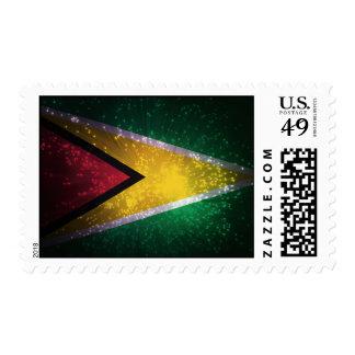Firework; Guyana Flag Postage Stamps