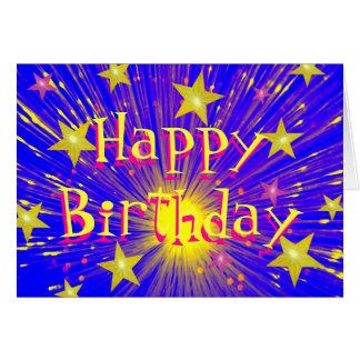 Firework 'Happy Birthday' greetings card