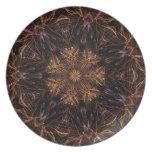 Firework Kaleidoscope Party Plate