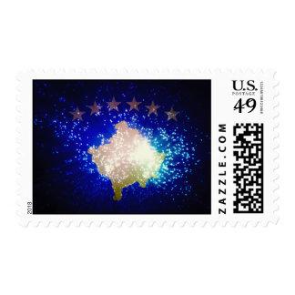 Firework; Kosovo Flag Stamps