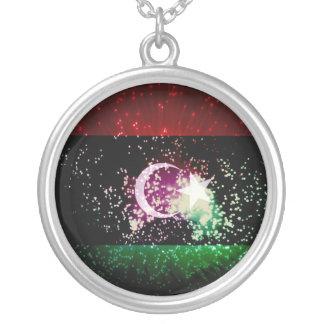 Firework Libya Flag Personalized Necklace