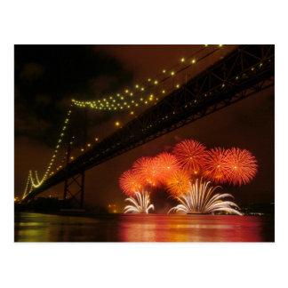 Firework Lisbon Postcard