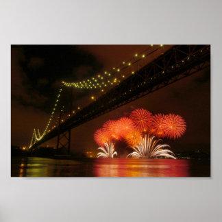 Firework Lisbon Poster