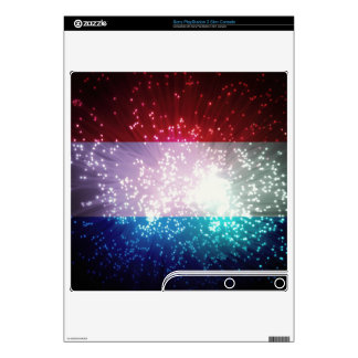 Firework; Luxembourg Flag PS3 Slim Decal