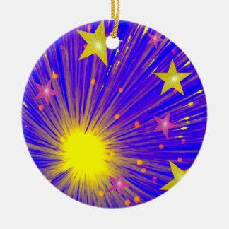 Firework ornament round