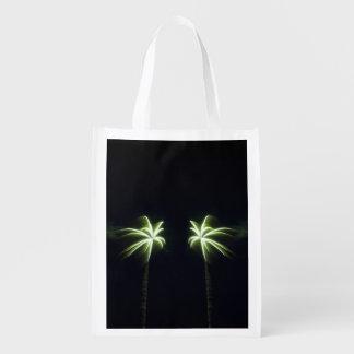 Firework Palm Trees Reusable Bag Grocery Bags