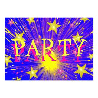 "Firework 'Party'  invitation 5"" X 7"" Invitation Card"