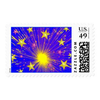 Firework  postage stamp
