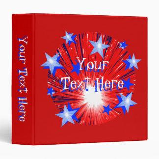 Firework R W B Round binder 'Your Text' red