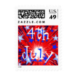 Firework Red White Blue '4th July' postage