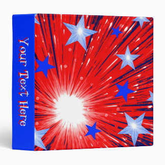 Firework Red White Blue binder 'Your Text' blue