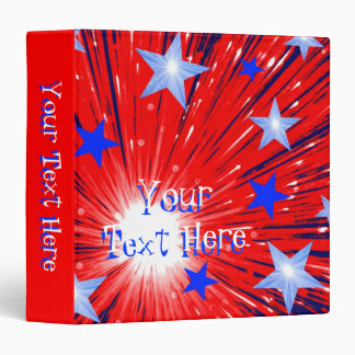 Firework Red White Blue binder 'Your Text' red