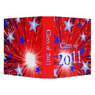Firework Red White Blue 'Class of 2011' binder binder