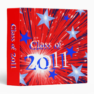 Firework Red White Blue 'Class of 2011' binder