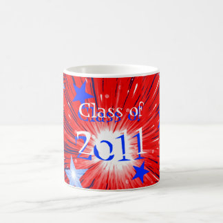 Firework Red White Blue 'Class of 2011' mug