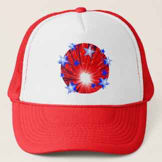 Firework Red White Blue hat