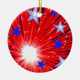Firework Red White Blue ornament