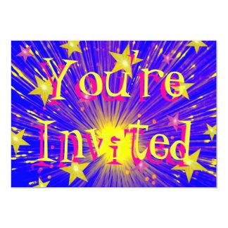 """Firework 'You're Invited'  invitation 5"""" X 7"""" Invitation Card"""
