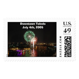 Fireworks01, Downtown ToledoJuly 4th, 2005 Postage Stamps