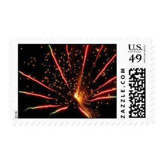 FireWorks01 Postage Stamps