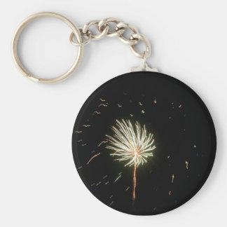 Fireworks 1 basic round button keychain