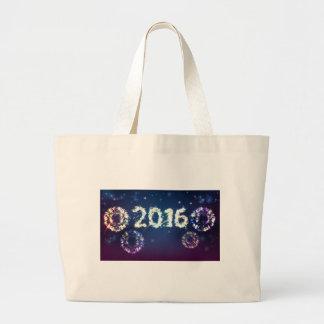 Fireworks 2016 Background Large Tote Bag