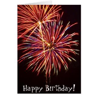 Fireworks 2 greeting card