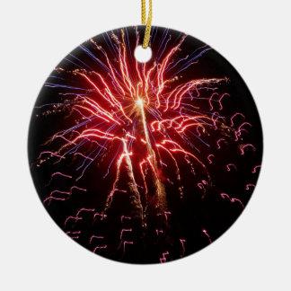 Fireworks 2 ceramic ornament