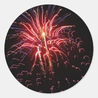 Fireworks 2 classic round sticker