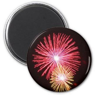 Fireworks 2 Inch Round Magnet