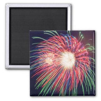 Fireworks 2 Inch Square Magnet