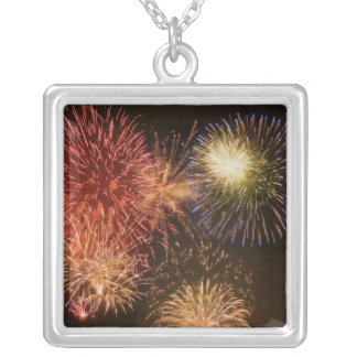 Fireworks (3) silver plated necklace