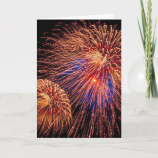 Fireworks 4th of July Card