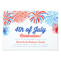 Fireworks 4th of July Invite