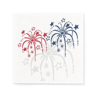 Fireworks 4th of July Paper Napkin Set