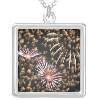 Fireworks (5) silver plated necklace