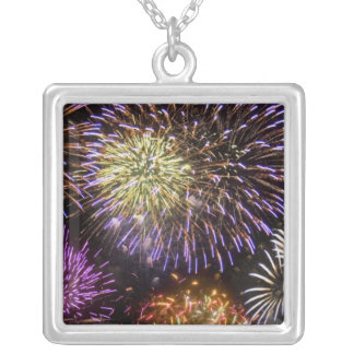 Fireworks (8) silver plated necklace