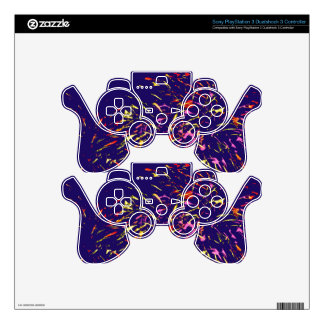 Fireworks Abstract Artwork PS3 Controller Decals