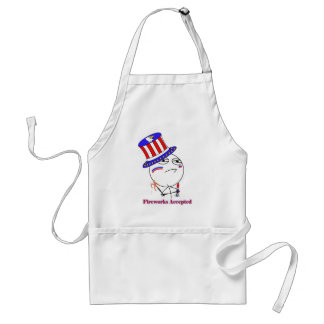 Fireworks Accepted! Adult Apron