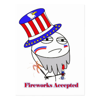 Fireworks Accepted! Post Cards