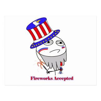 Fireworks Accepted! Postcard