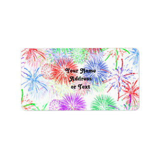 Fireworks (Add background color) Label