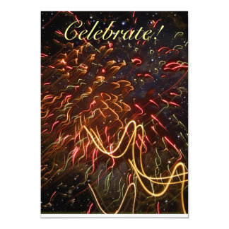 Fireworks Against the Stars 5x7 Paper Invitation Card