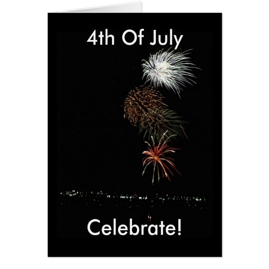 Fireworks American Patriotic Card
