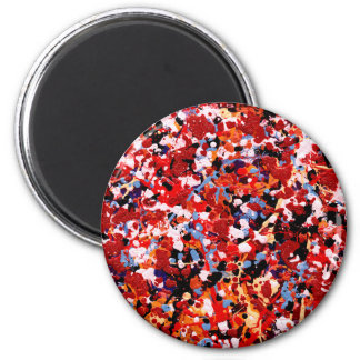 FIREWORKS! (an abstract art design) ~ 2 Inch Round Magnet