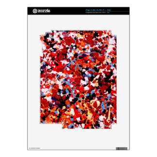 FIREWORKS! (an abstract art design) ~ Decals For The iPad 2