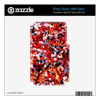 FIREWORKS! (an abstract art design) ~ iPod Touch 4G Decal