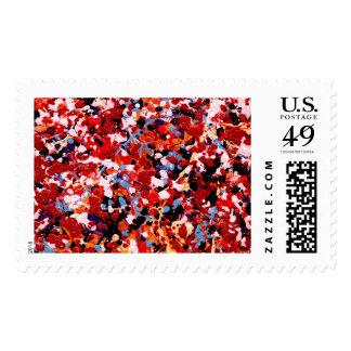 FIREWORKS! (an abstract art design) ~.jpg Stamp