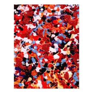 FIREWORKS! (an abstract art design) ~ Letterhead