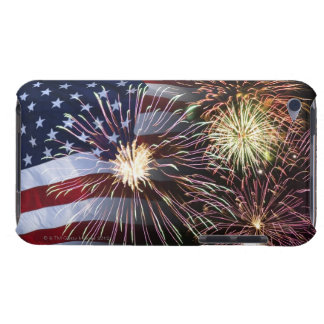Fireworks and American flag iPod Case-Mate Cases